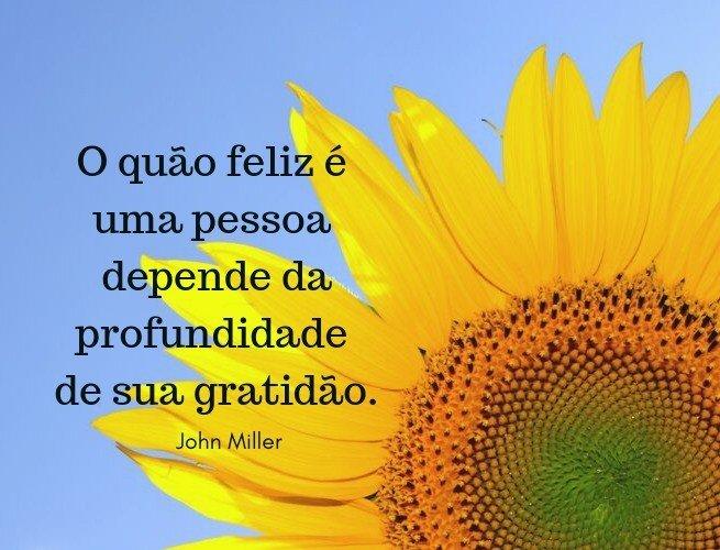 O quão feliz é uma pessoa depende da profundidade de sua gratidão.