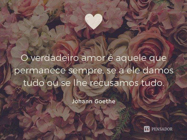 goethe - amor incondicional