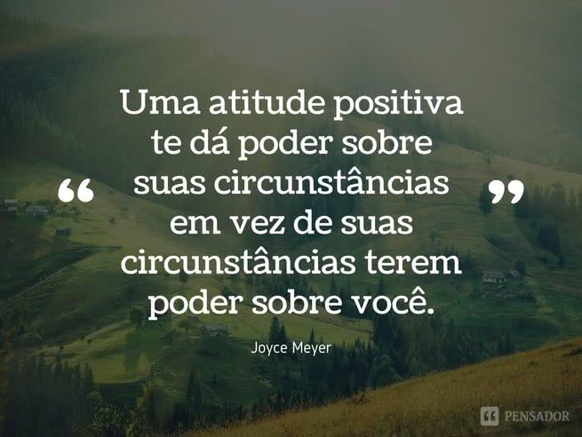 Joyce Meyer - uma atitude