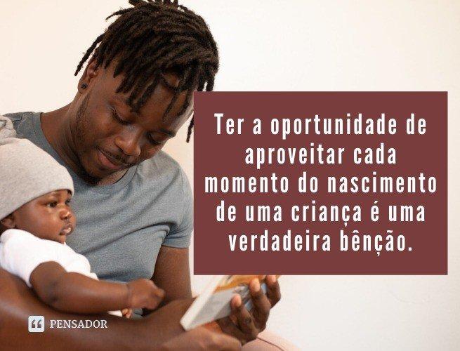 Ter a oportunidade de aproveitar cada momento do nascimento de uma criança é uma verdadeira bênção.