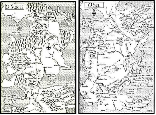 Mapa de Westeros - Crônicas de Gelo e Fogo