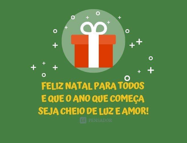 Feliz Natal para todos e que o ano que começa seja cheio de luz e amor!