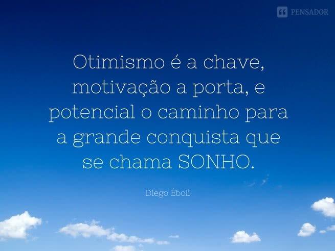 otimismo é a chave