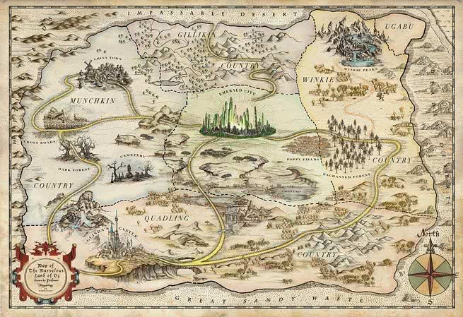 Mapa da Terra de Oz
