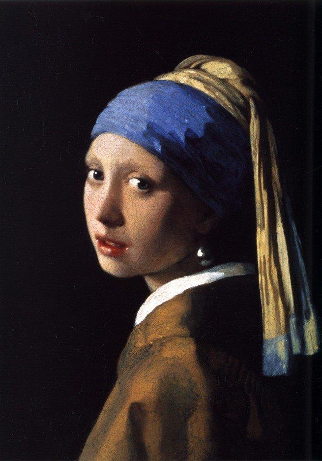 Pintura Moça com brinco de pérolas de Johannes Vermeer