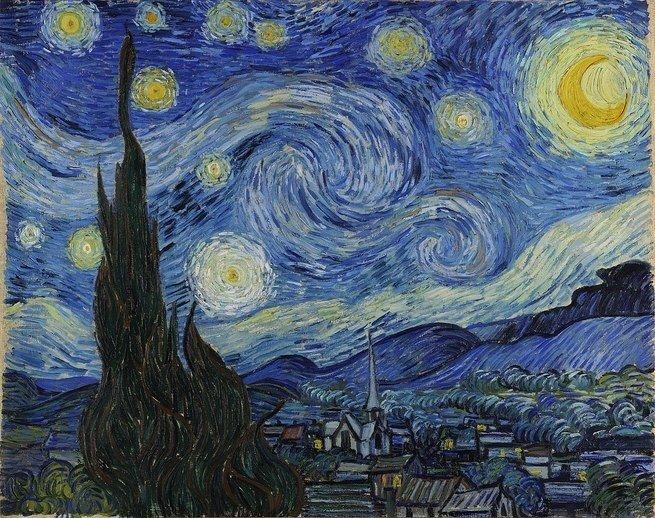 Pintura 'A Noite Estrelada' de Vincent Van Gogh