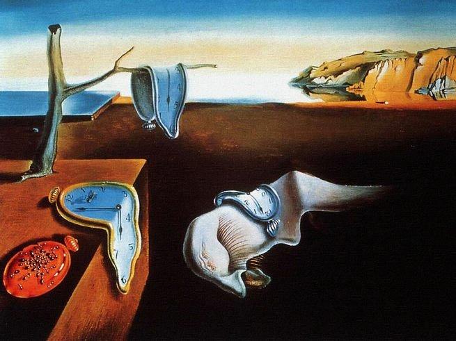 Pintura 'A Persistência da Memória' de Salvador Dalí