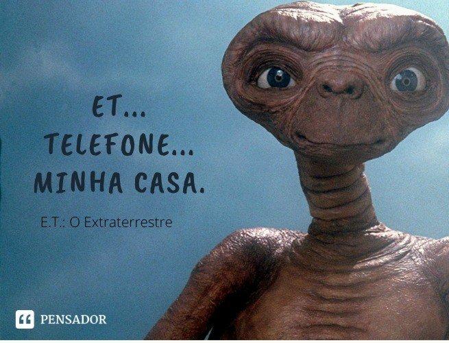 ET... Telefone... Minha casa.   E.T.: O Extraterreste