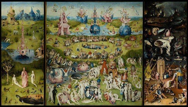 Pintura 'O Jardim das Delícias' de Bosch