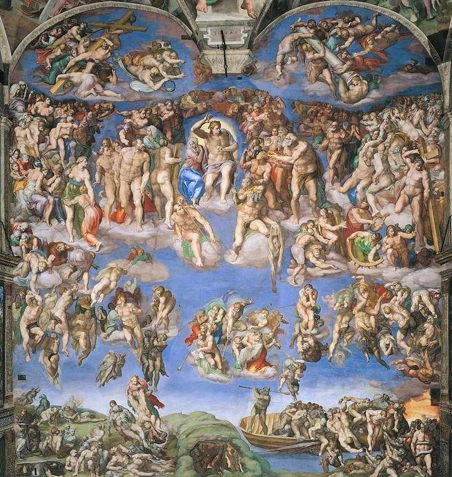 Pintura 'O Juízo Final' de Michelangelo