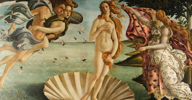 Pintura 'O Nascimento de Vênus' de Sandro Botticelli