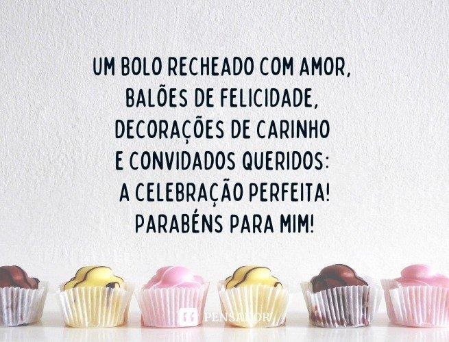 Um bolo recheado com amor, balões de felicidade, decorações de carinho e convidados queridos: a celebração perfeita. Parabéns para mim!