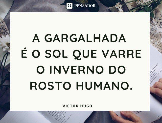 A gargalhada é o sol que varre o inverno do rosto humano.  Victor Hugo