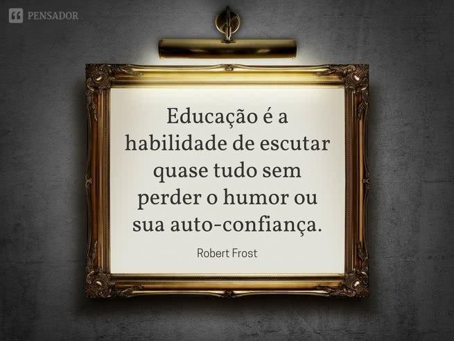 educação é a habilidade