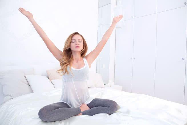 mulher meditar