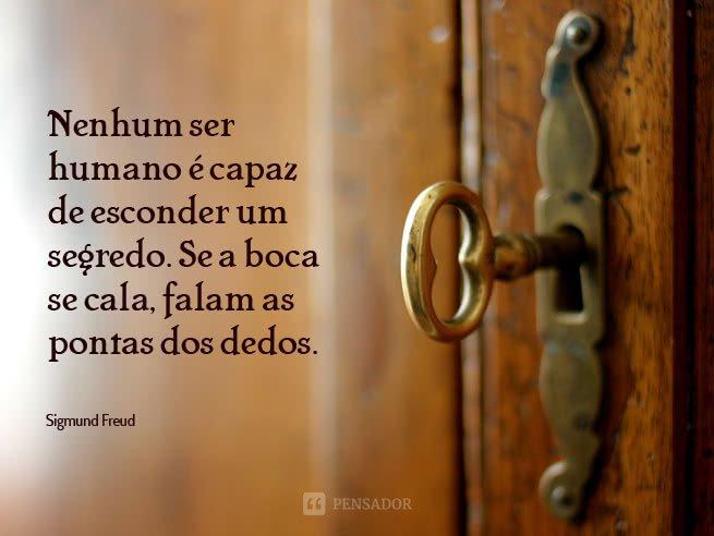 Freud - nenhum ser humano é capaz...