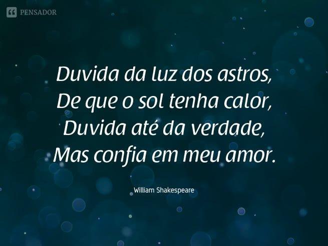 frases de shakespeare sobre amor